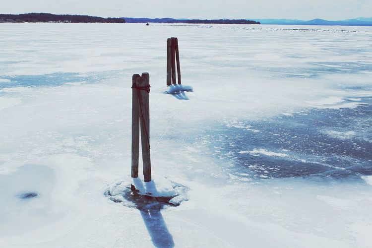 Frozen lake Lake Frozen Champlain First Eyeem Photo