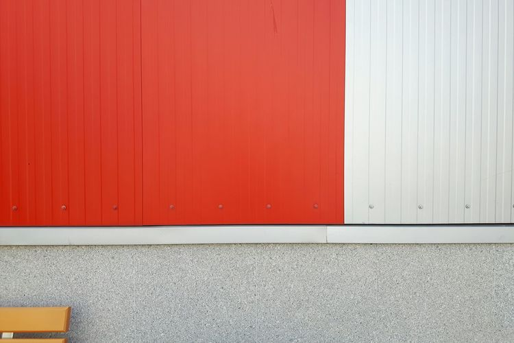 Facade Detail Architectural Feature Building Facade Simplicity Built Structure Lines And Shapes Building Building Exterior Background Simple Outdoors Day Urban No People Gray Lines Architecture Colour Of Life Orange Color Red