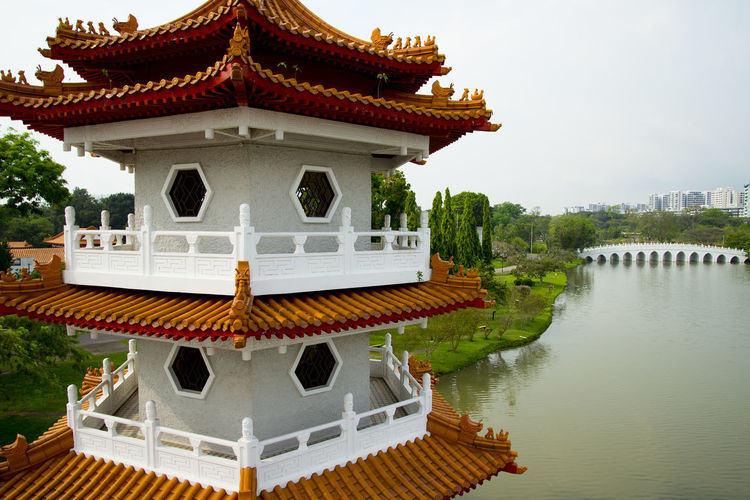 Twin Pagoda in Chinese Garden Singapore City Pagoda Chinese Garden Twin Pagodas