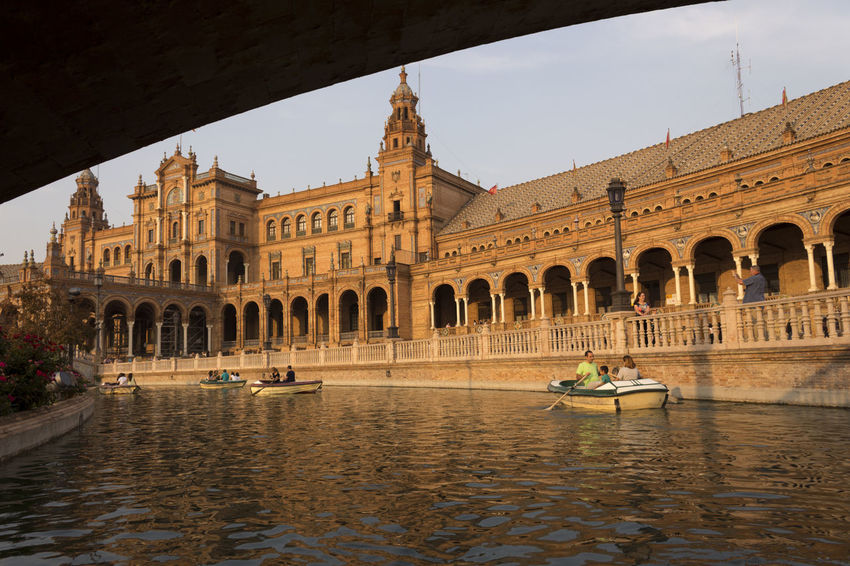 Plaza de España - october2015 || Monuments Boats Water Citybycity Eye Em Around The World Sevilla SPAIN