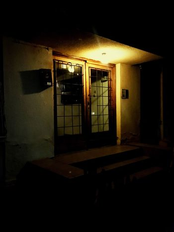 Illuminated Architecture Dark Night Door