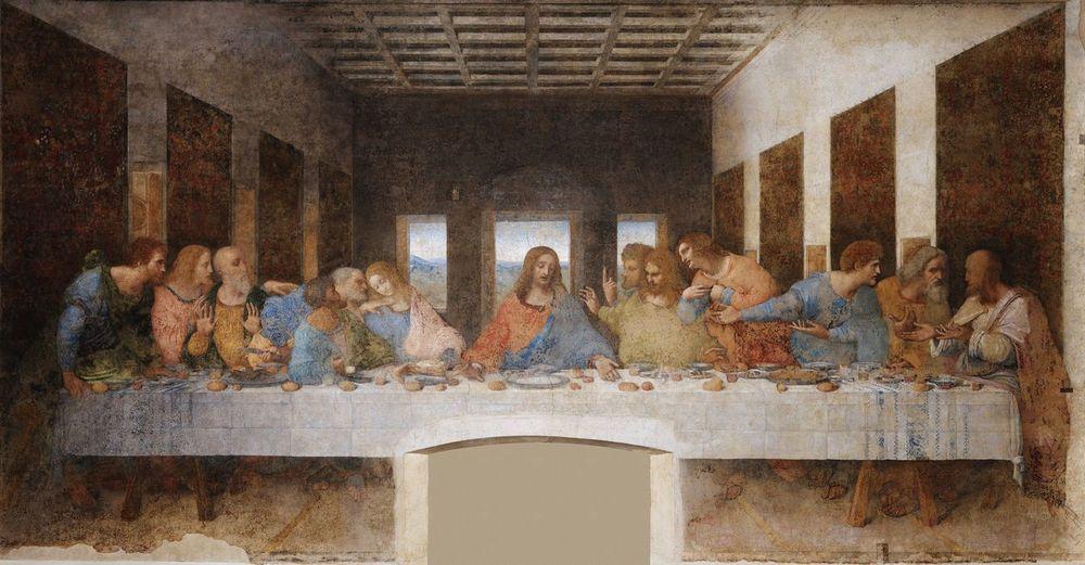 Thelastsupper Son Akşam Yemegi Leonardo Da Vinci Milano Italy Santa Maria Della Grozia Best