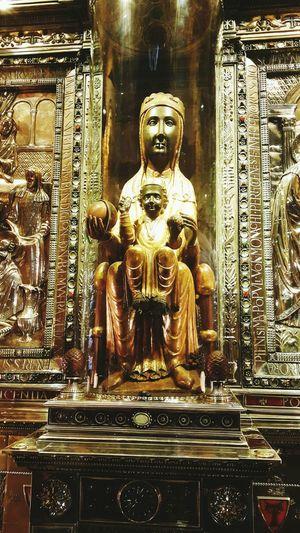 Black Madonna Montserrat Montserrat Monastery Religion Saint Churchart Religious Art