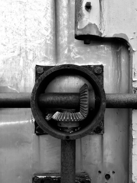 Industrial Photography EyeEmNewHere EyeEm Best Shots - Black + White EyeEm Gallery EyeEm Best Shots EyeEm South Jersey Metal Gear Solid Gear Box Gears Rusty Abandoned Buildings Abandoned Industrial Urban Decay Njphotographer Nj IPhone7Plus Close-up Day No People Valve Industry Factory Outdoors Gauge