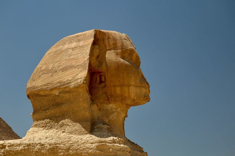 Sphinx Sphynx Red Sea Egypt Egyptian Ancient Architecture EyeEm Selects Art And Craft Sky Sculpture History The Past Statue Representation Human Representation Clear Sky Architecture Craft No People Creativity Day Outdoors