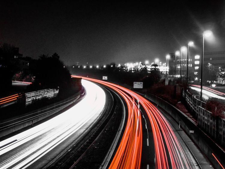 OpenEdit Blackandwhite Black And White Night Nightphotography Night Lights Colors Starting A Trip Light City