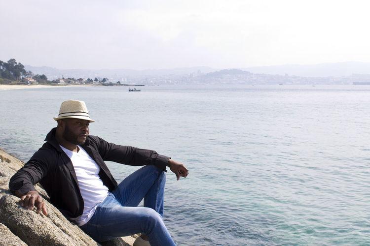 Black man in the coast