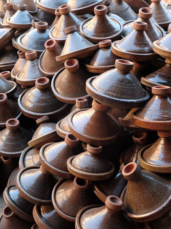Art And Craft Choice Clay Craft Earthenware Large Group Of Objects Market Marocco No People Outdoors Pottery Tajin Terracotta