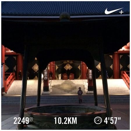 Running Tokyo Nike Run Japan Skytree 東京 スカイツリー 日本 GYAKUSOU 浅草寺 Nikeplus Sensouji 隅田川 ランニング Sumida ナイキ 隅田川テラス Sumidariver ラン 親水テラス