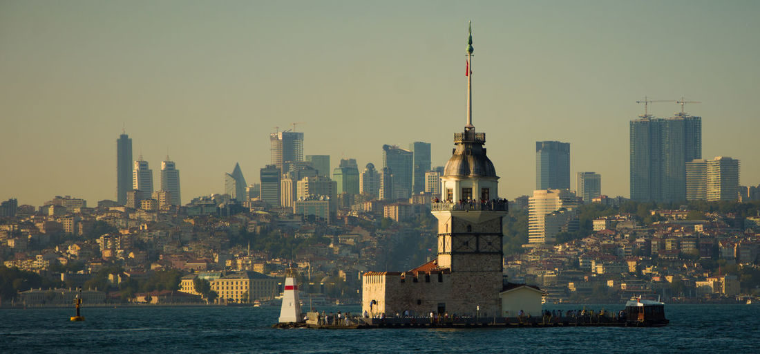 Architecture Bosphorus Building Exterior Built Structure City Cityscape Clear Sky Day Modern No People Outdoors Sky Skyscraper Tall Tower Urban Skyline Water Waterfront