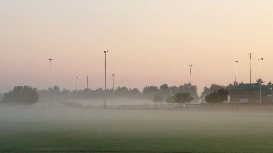 Outdoors Early Morning Misty Morning Just Before Sunrise Early Morning Walk... Soccer Field Misty Mornings Sunrise Soccerfield Sport South Africa Outdoor Photography