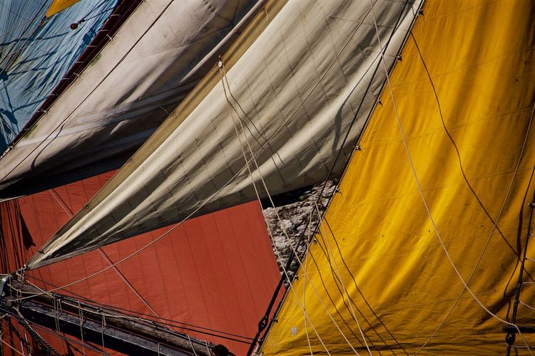Boats Brest 2016 Brittany Close-up Day Detail Natural Pattern Orange Color Outdoors Part Of Sailboat Sails 43 Golden Moments Showcase July The EyeEm Collection Colour Of Life