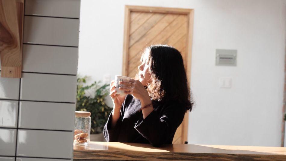 Peaceful in the morning Lodvieliz Vidilungtung Dalat Vietnam Travel Photography Photoshoot Enjoying Life Coffeeholic Sunshine EyeEm Selects The Traveler - 2018 EyeEm Awards Young Women Drink Women Sitting Happy Hour Drinking Glass Wineglass Smiling Drinking The Portraitist - 2018 EyeEm Awards The Modern Professional