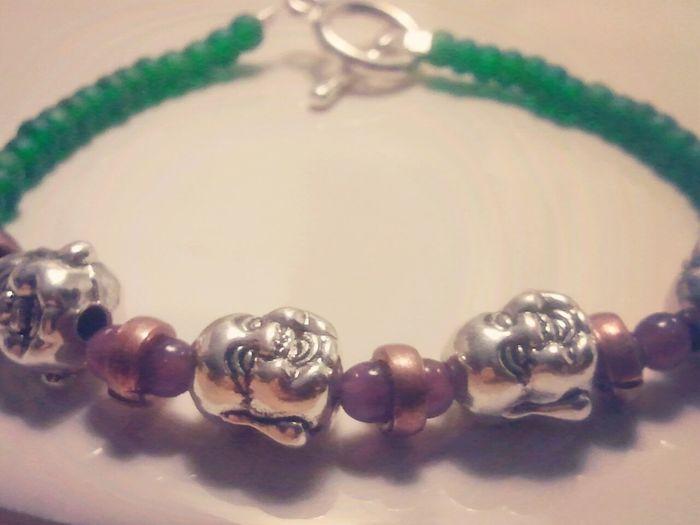 Laughing buddah handmade bracelet