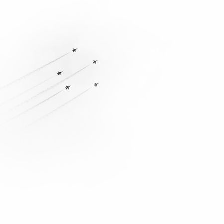 Shooting stars! Sg50 Ndp2015 Blackandwhite Minimalism Plane