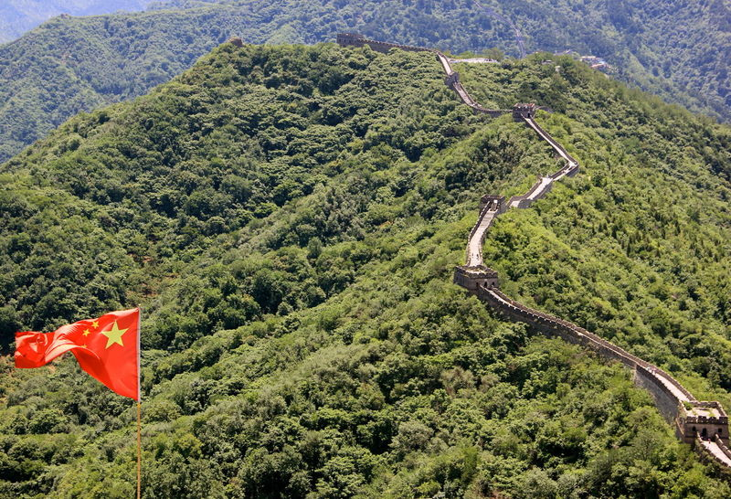 China Landscape Great Wall Great Wall Of China Beauty In Nature China China Landscape Chinese Day Flag Nature Outdoors Sky