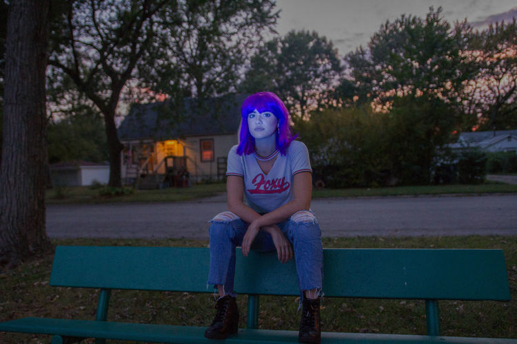 What happens when you don't come home before the street lights come on? After Dark The Portraitist - 2018 EyeEm Awards Weird Nostolgia Teenager Twilight Sky