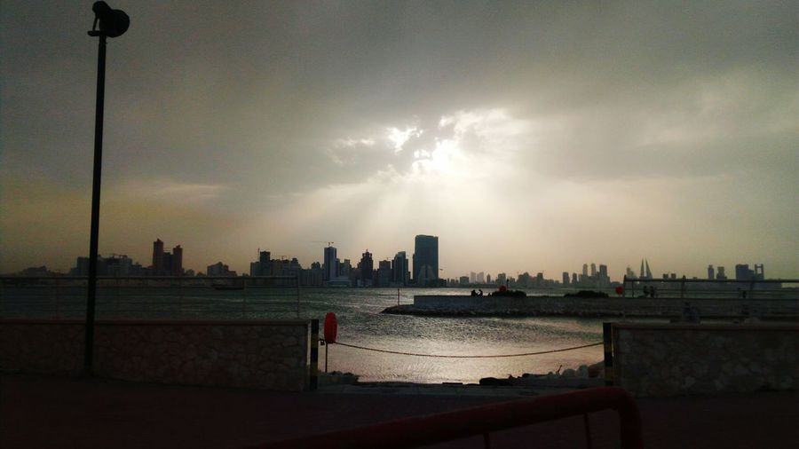 City Cityscape Outdoors Sun Clouds Rays Of Light Bahrain Photography Manama Bahrain Tourism Sea Water