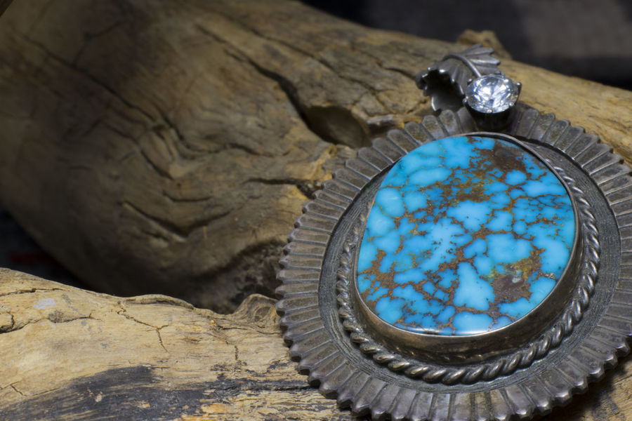 Jewelry Turquoise Pendant Top Wood Blue Silver Sterling 925 antique old diamond Close-up 925 Antique Blue Close-up Diamond Jewelry Nature No People Old Pendant Silver  Sterling Top Turquoise Wood