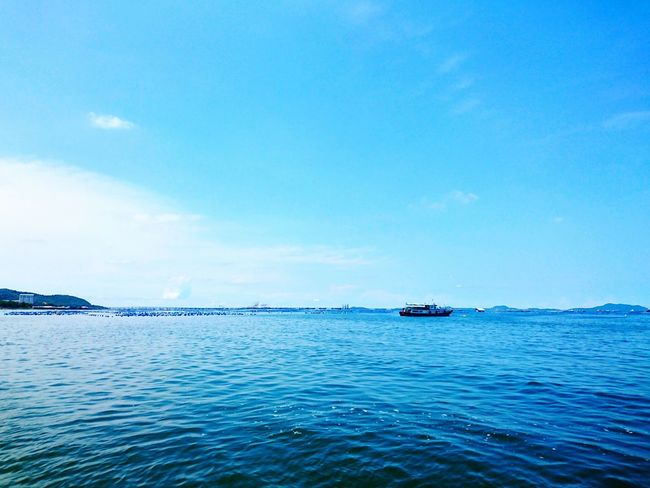 Blue Sea Water Sky Nature Nautical Vessel Outdoors No People Day Beauty In Nature Koh Sichang, Chonburi Koh Sichang Thailand Thai KohSichang SichangBeach SICHANGISLAND Harbor