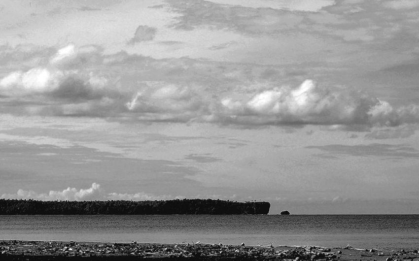Island x Sea x Sky Landscape_photography Blackandwhite Photography First Eyeem Photo