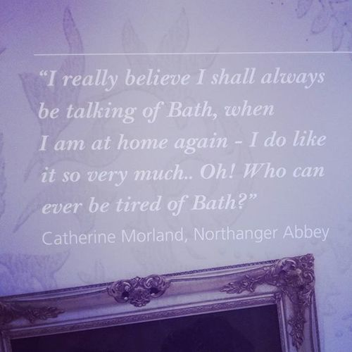 I'm with you Catherine. Bath is pretty great. Northangerabbey Janeausten Thejaneaustencentre Bath