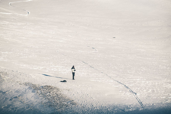 Drone  Cold Temperature Day Flying Drone Full Length High Angle View Holiday Land Leisure Activity Lifestyles Men Nature One Person Outdoors Real People Snow Sport Trip Vacations Winter Winter Sport