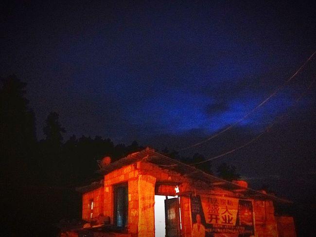 2016 EyeEm Awards Night Nightphotography Countryside Blue Sky Oldhouse Warmth In The Night House Nice Trip