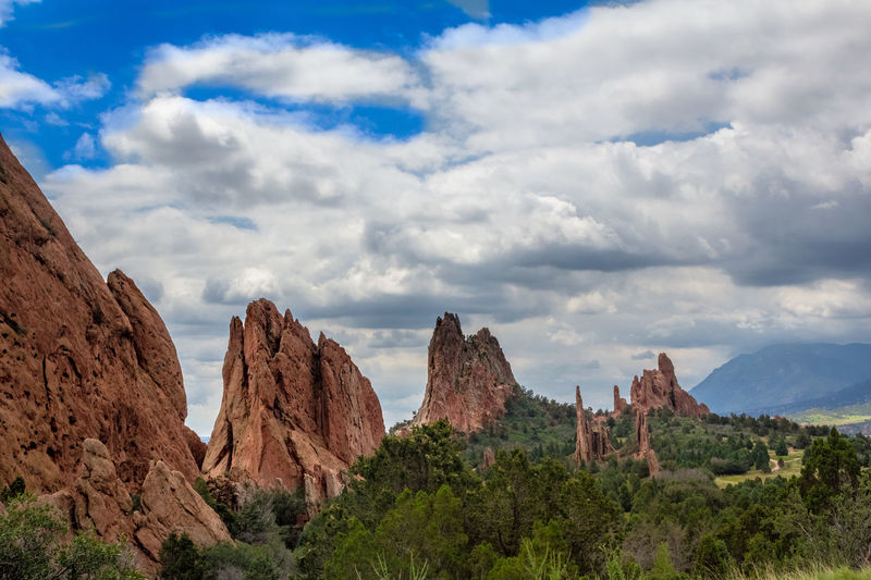 Rock Formation Geology Plate Tectonics Travel Colorado Garden Of The Gods Sandstone Mountains And Sky Big Sky Altitude Nature Landscape Rocky Mountains