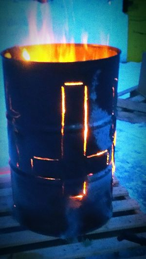 Check This Out Hanging Out Enjoying Life Winter Fire Barrel Art