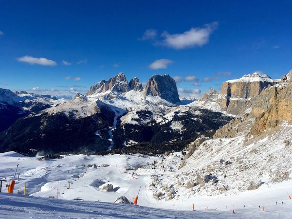 Snow Sky Mountain Winter Nature Scenics Langkofel Beauty In Nature Outdoors Day Val Di Fassa Travel Skislope Dream Ski Wintersport Sunny EyeEmNewHere Dolomites, Italy Windmade Sellaronda Sella Group Sella Clear Sky Vacations