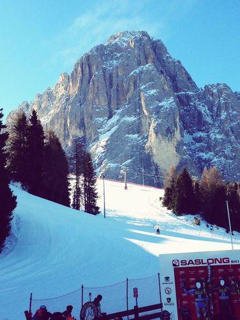 Saslong Skiing Winter Snow