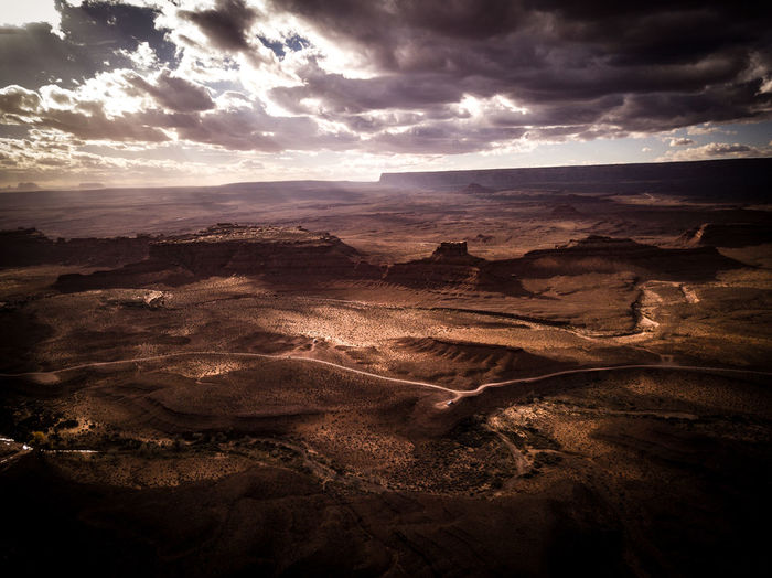 Life on Mars Desert Drone  Mars Monument Valley Utah Beauty In Nature Cloud - Sky Clouds Day Landscape Moody Nature No People Outdoors Scenics Sky Sunlight Sunset Tranquil Scene Tranquility