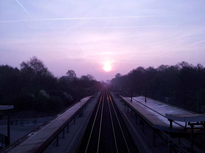 Outdoors No People Sky Goodmorning Sunshine Railway SunIsUp Beautiful Musicinmyear I would call her name out loud, I would bleed for her, If I could only see her! Germany Music Passion EyeEmNewHere Millennial Pink
