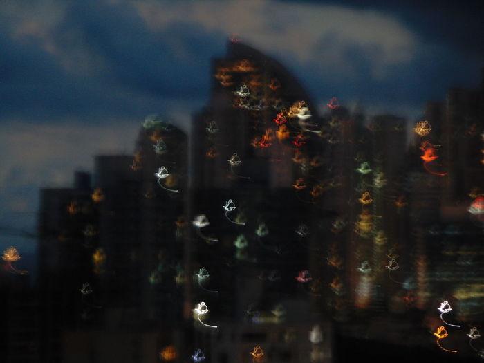 Night No People Skyscraper Cityscape Citynights Dizziness Outdoors Illuminated Sky