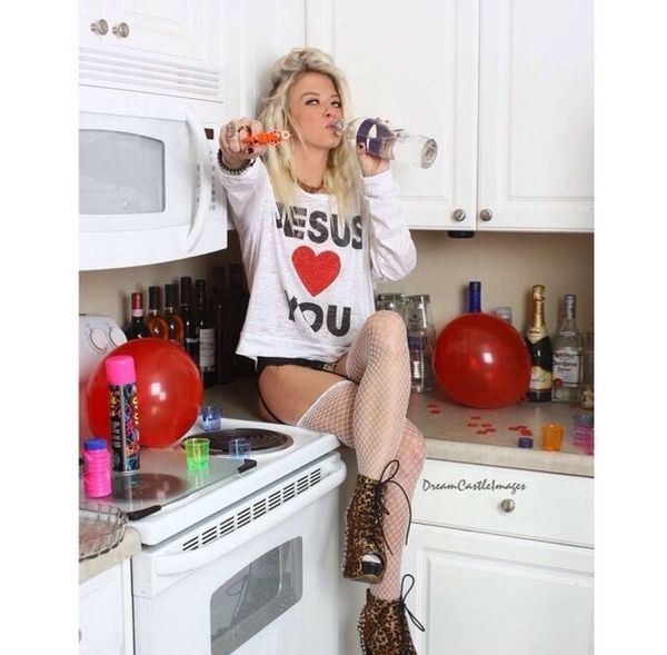 DreamCastlePhotography Jesus Loves You Drink Up Blonde Naughty