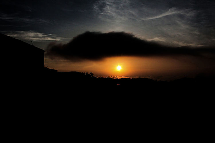 Sunset Dramatic Sky Cloud - Sky Night Moon Landscape Scenics Silhouette Sunset Tranquility Nature No People Outdoors Beauty In Nature Sky Astronomy Star - Space Tree Italy