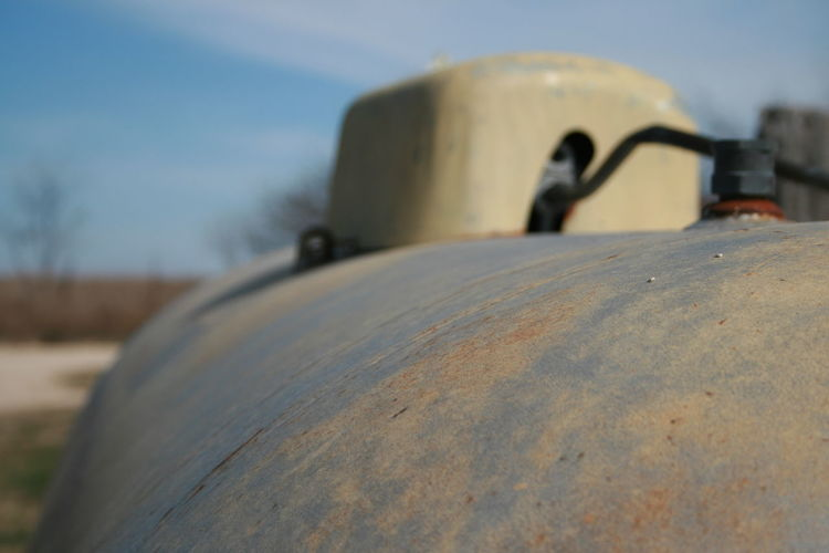 Close-up Cold Temperature Day Nature No People Outdoors Perspective Photography Propane Tank