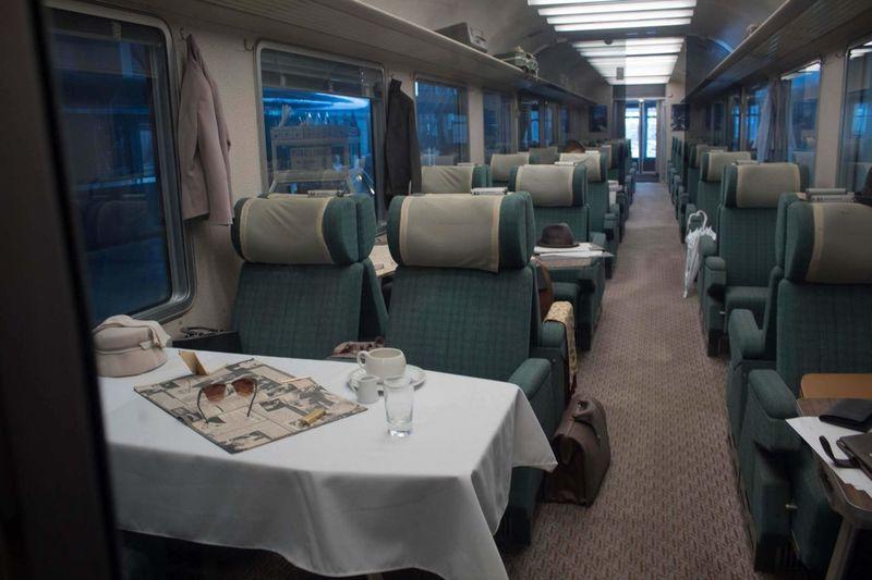 Empty seats of luxurious train