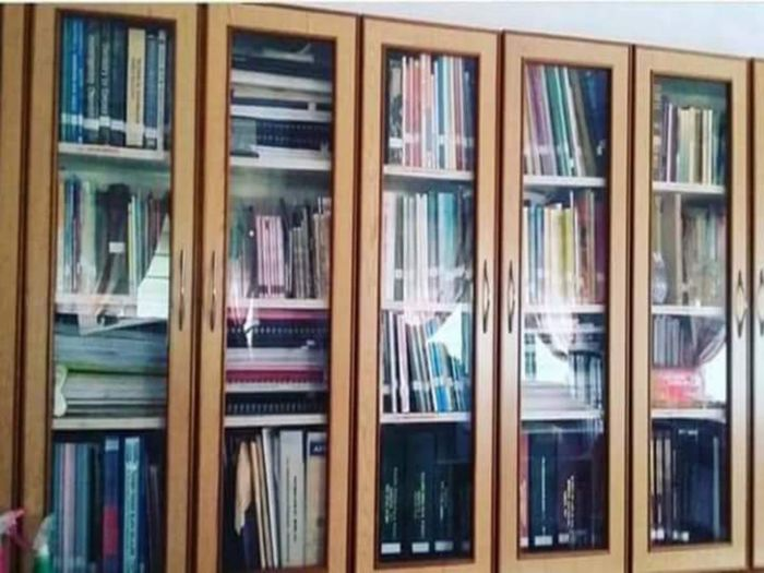 Serious stuff Serious Stuff Study Material Study Books Ainn Al Home Home Library Bookshelf Library Shelf Book Window Wood - Material Architecture Shelves Knowledge Display Hardcover Book Literature