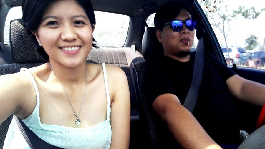 Obligatory selfie after a whole day of a magulo-turned out fun day with big guy :*
