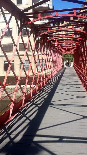 SPAIN Light And Shadow Bridge - Man Made Structure Tourism Travel Destinations Famous Place Mr. Eiffel Girona GironaCapitalDeCatalunya My EyeEm Collection Pedestrian Walkway Metalbridge Sunlight