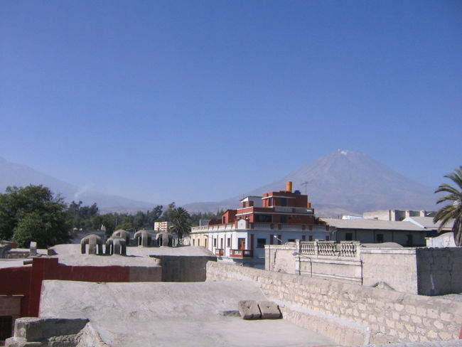 Architecture Arequipa Arequipa - Peru Beauty In Nature Blue Building Exterior Built Structure Clear Sky Copy Space Day House Landscape Monastary Monasterio De Santa Catalina Mountain Nature No People Outdoors Scenics Sky