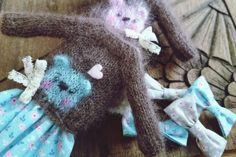 Knitting Details DollCollector Details Of My Life Teddybear Teddylove Handmade Handcarved Wood