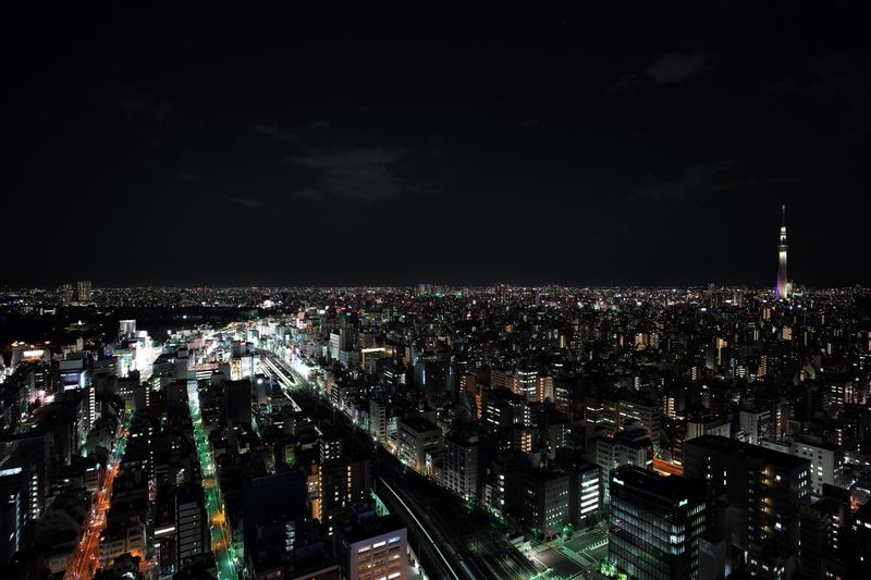"View from ""The Otaking"" Akihabara Night Tokyo Penthouse View"
