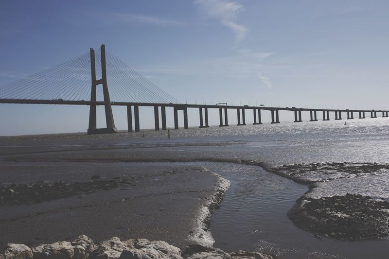 Vasco Da Gama Bridge Over Tagus River