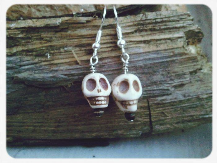 Tibetan handmade skull earrings. available here https://www.etsy.com/listing/179675437/skull-earrings-white-skull-earrings Handmade Bohemian Jewelry Boho