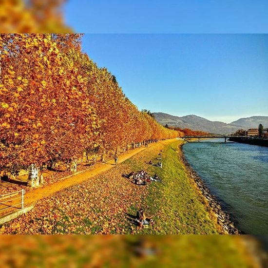 Salzburg Fall Indiansummer Salzach Instagram Pics Walking Riverside