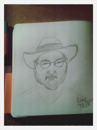 Lars von Trier Lars Von Trier Sketch Portrait Moleskine