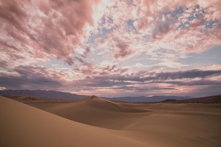 Desert Sand Arid Climate Sand Dune Scenics Beauty In Nature Nature Travel Landscape Sky Dramatic Sky Cloud - Sky Outdoors Tranquility Sunset Tranquil Scene No People Day Death Valley National Park Pink Skyporn California California Love Sunset_collection